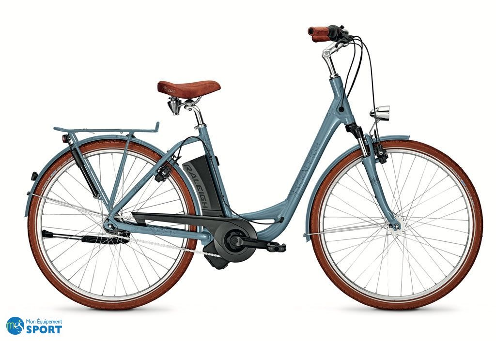 "Vélo Electrique Raleigh gris 28"" pour femme bleu"