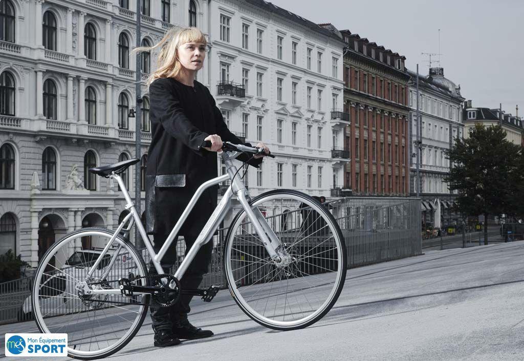 Vélo Urbain NYC Lady Shimano Alfine Di2 11 Vitesses argenté