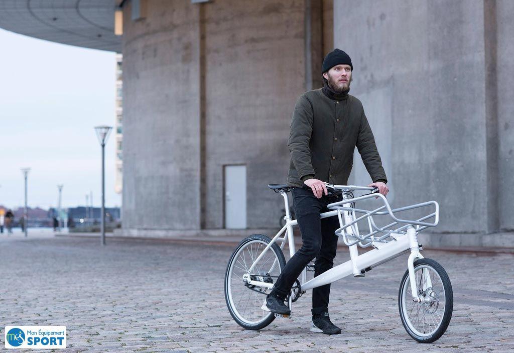 Vélo cargo hybride urbain pek biomega