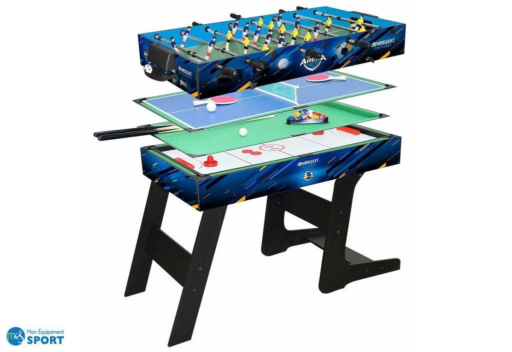 Table Multijeux BabyFoot, Airhockey, Ping Pong et Billard