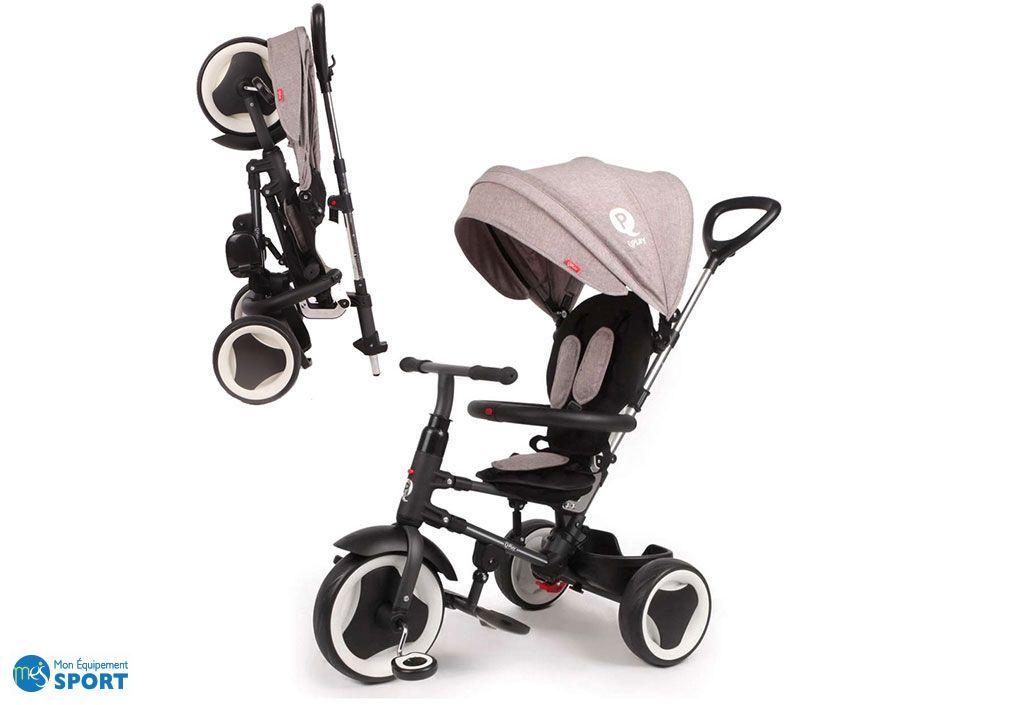 Tricycle évolutif QPlay Rito pliant gris