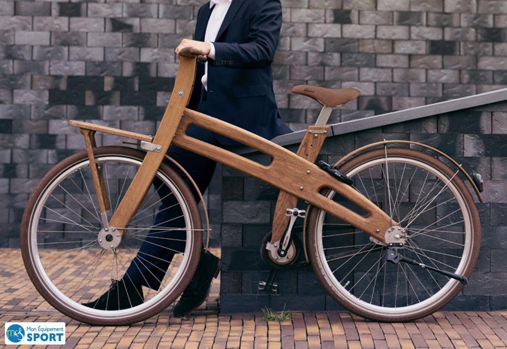 Vélo de Ville en bois en Chêne du Jura