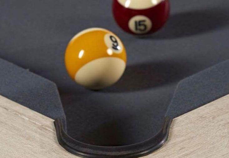 3948955122832 ... Billard Américain transformable en table Alize avec drap gris