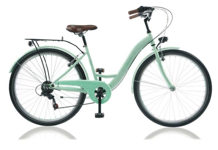 Vélo de ville 26 pouces amazone pour femme en vert