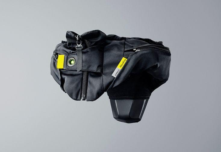 casque airbag pour cyclistes hovding v3 de face