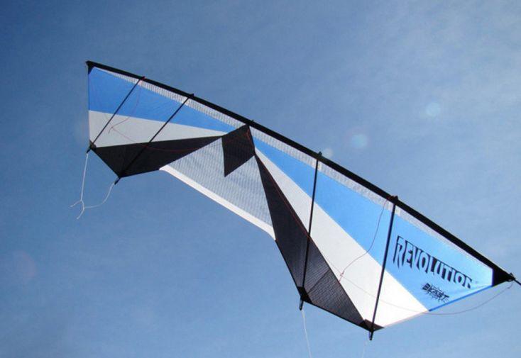 Cerf-volant de traction Revolution Blast avec poignée Quad - ventilé bleu