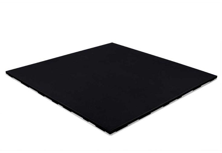 Dalle amortissante en caoutchouc noir