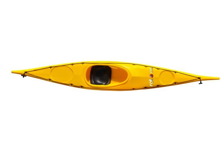 Kayak Roto Buran Basic Jaune 4,30 m - Dessus