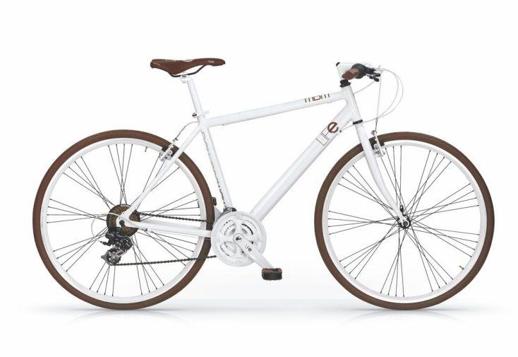 Vélo de Ville Life 28 Pouces 21 Vitesses en blanc