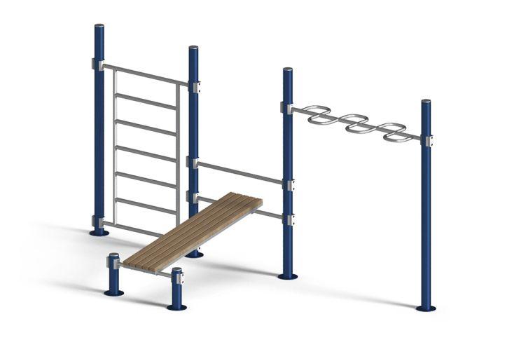 Parcours sportif d'extérieur en acier galvanisé Helios Regolo