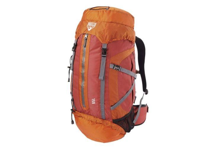 Sac à dos de randonnée barrier peak 65 litres orange