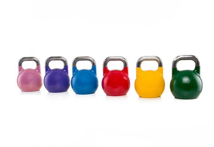 Set de kettlebells en acier de 8 à 28 kg