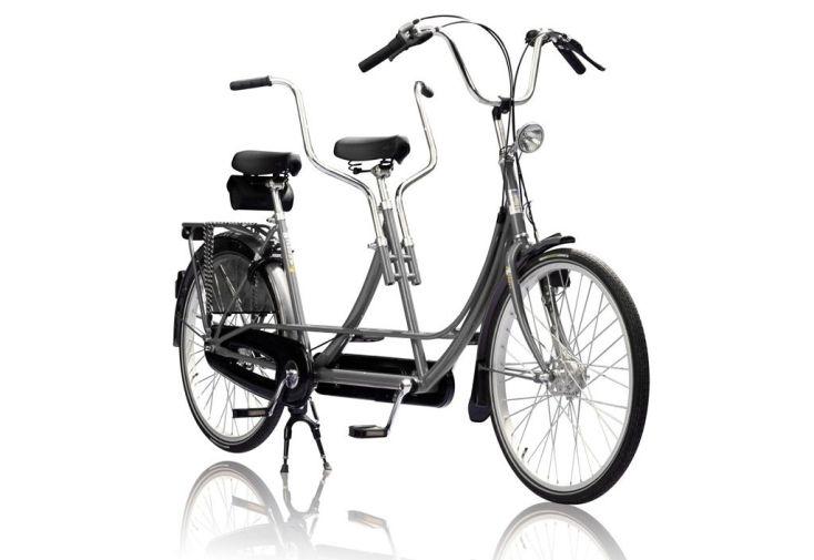 Tandem linbike 26 pouces gris pour adultes