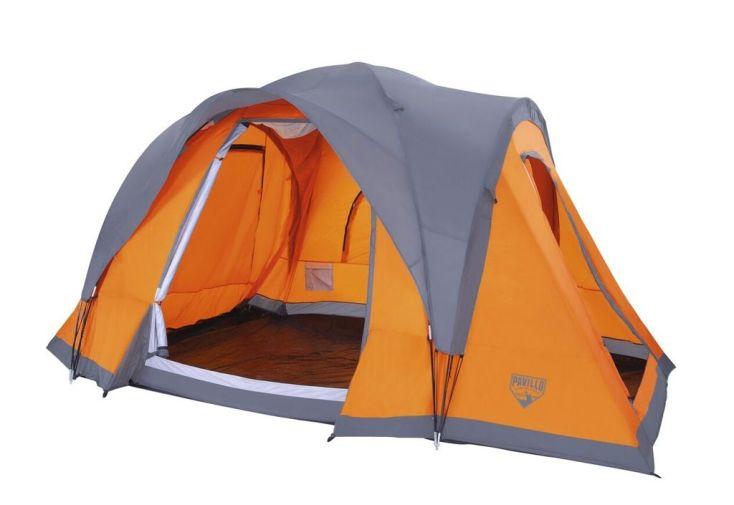 Tente de Camping Campbase 6 personnes avec toit amovible