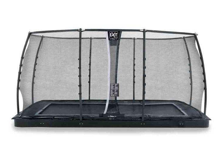 Trampoline enterré rectangulaire avec filet de sécurité - EXIT Dynamic