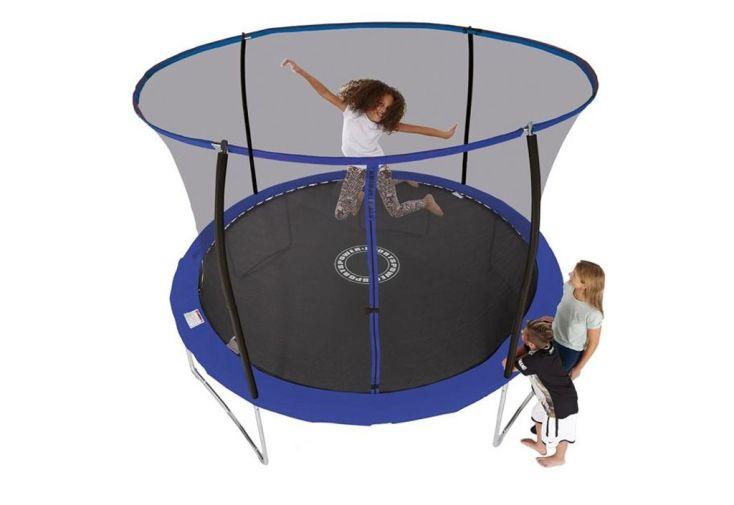 Trampoline bleu de 305cm de hauteur et 305 cm de diamètre