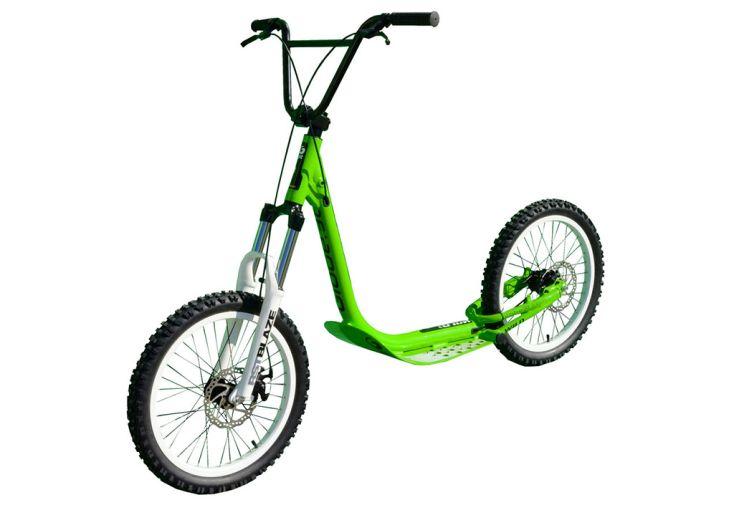 Trottinette de descente Wild vert roue 20 pouces