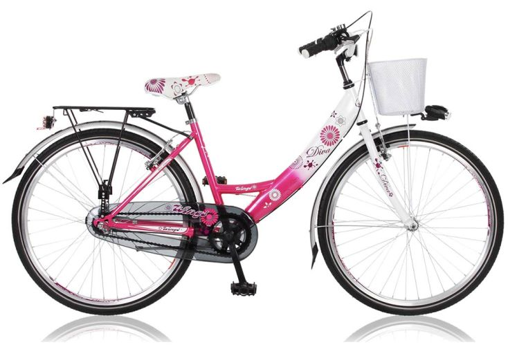 Vélo de Ville Diva 22 Pouces 6 Vitesses Shimano