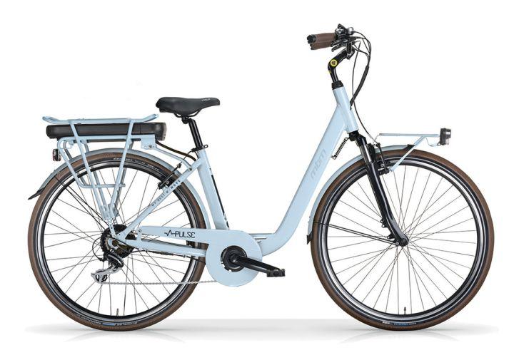 Vélo Électrique Pulse MBM 28 Pouces 7 Vitesses - Bleu Ciel