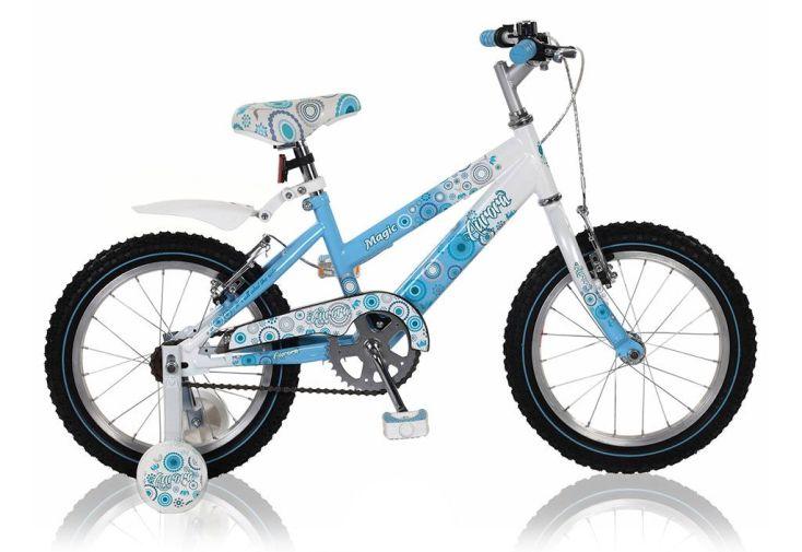"""Vélo aurora bleu pour fille 16"""" avec stabilisateur"""