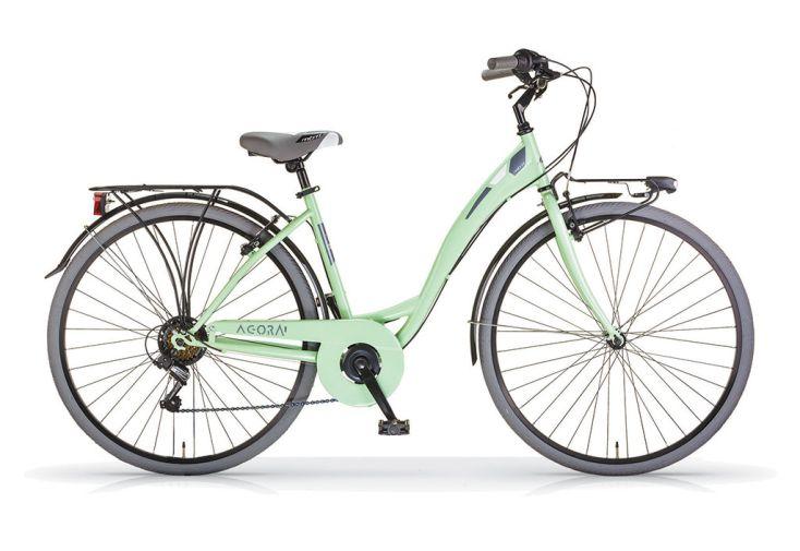 Vélo femme vélo ville BMB Agora 28 pouces 6 vitesses vert menthe