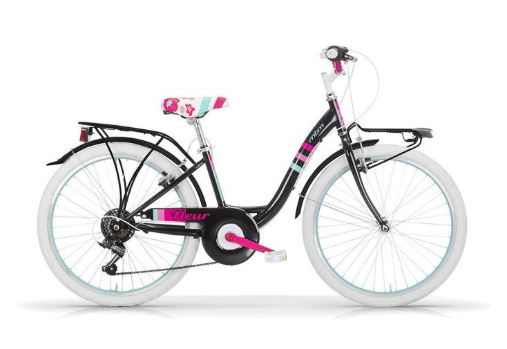 Vélo 24 pouces Fleur 6 vitesses Noir
