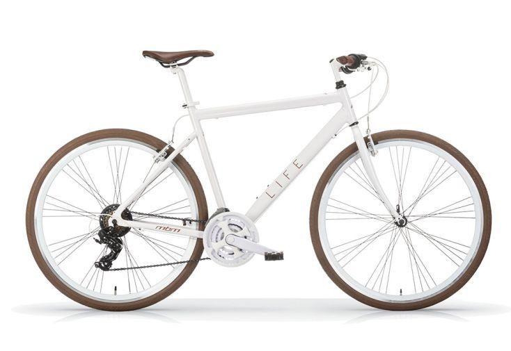 Vélo de Fitness MBM 28 Pouces 21 Vitesses en Blanc