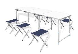 Table Pliante de Camping + 6 Tabourets