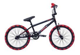 BMX Freestyle Rock 20 pouces - Noir et Rouge