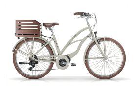Vélo électrique emaui beige 26 pouces