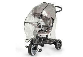 Housse de protection contre la pluie sur un tricycle QPlay gris