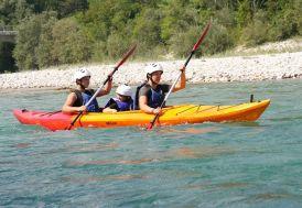 kayak bi-place pour la mer avec 2 fauteuils en polyéthylène