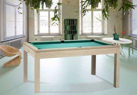 Billard Loft de René Pierre convertible en table avec drap vert