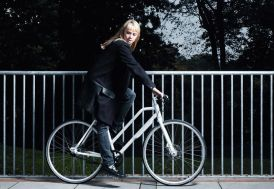 Vélo Urbain NYC Lady 8 vitesses 25 pouces BLANC