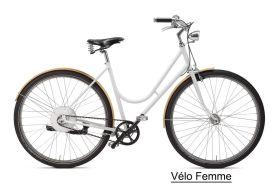 Vélo Électrique transmission courroie à carbonne pour femme