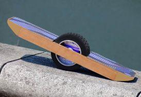 """Gyroskate Surfwheel 1 roue 8,5"""" bleu profil"""