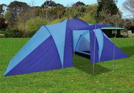 Tente de Camping 6 Personnes Bleue