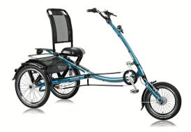 Tricycle pour adulte scooter trike 16/20 bleu