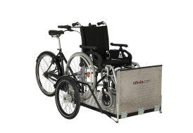 Vélo Cargo pour Fauteuil Roulant avec Cadre en Acier Nihola Flex