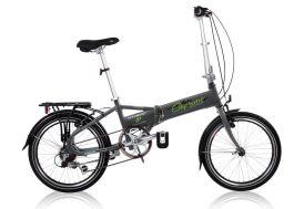 Vélo pliable 20 pouces supreme noir 6 vitesses