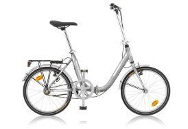 Vélo pliable argenté alibi 20 pouces