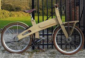 Vélo électrique en bois chêne massif 26 pouces