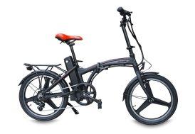 vélo électrique rouge et noir 250 Watts autonomie 60 km