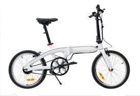 Vélo électrique pliable Blanc