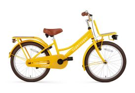 Vélo enfant 20 pouces monovitesse Supersuper Cooper Bamboo jaune