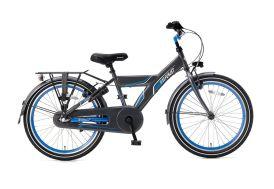 Vélo enfant 22 pouces 3 vitesses Supersuper Funjet gris et bleu