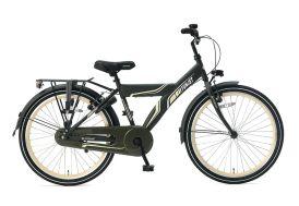 Vélo enfant 24 pouces monovitesse Supersuper Funjet vert foncé et jaune