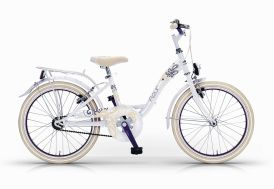 Vélo 24 pouces pour filles fleur - Blanc