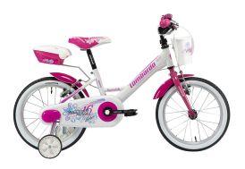 vélo pour enfants 16'' rose Mariposa - Blanc Rose