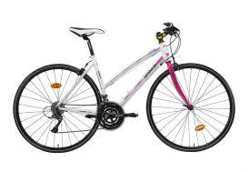 Vélo femme Ventimiglia 2200 28 pouces - Vélo fitness sport Blanc et Rose